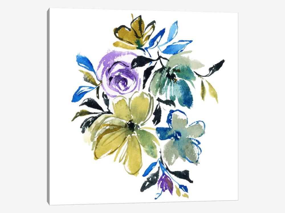 Blue Notes by Joy Ting 1-piece Canvas Artwork