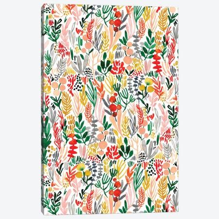 Peachy Florals VI Canvas Print #JTG23} by Joy Ting Art Print