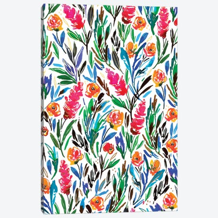 Floral Fun III Canvas Print #JTG26} by Joy Ting Canvas Art