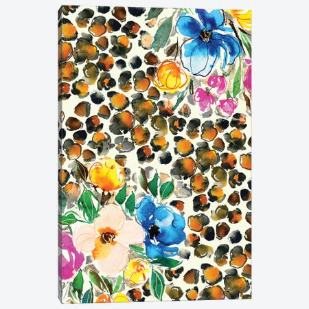 Floral Animal Print Canvas Print #JTG27} by Joy Ting Canvas Art