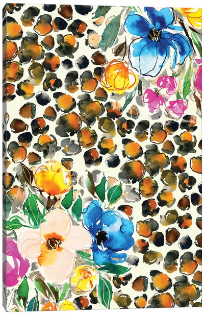 Floral Animal Print Canvas Art Print