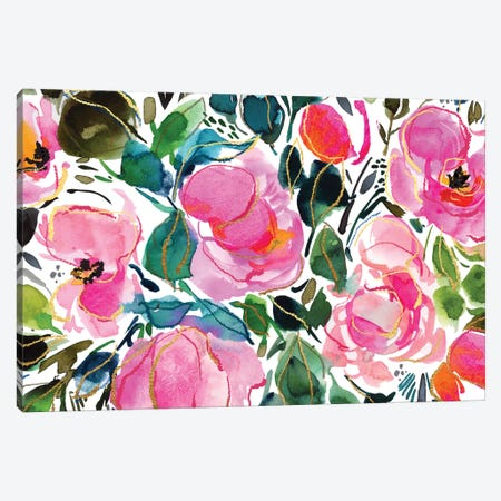 Blooms VII Canvas Print #JTG38} by Joy Ting Canvas Art