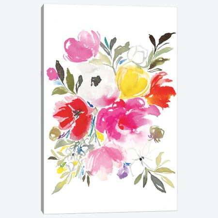 Pink Expression Canvas Print #JTG4} by Joy Ting Canvas Art Print