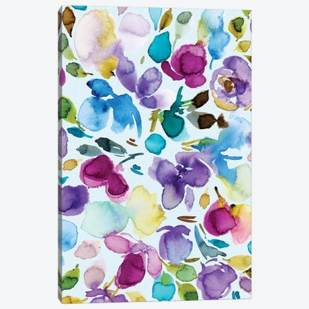 Floral Party III Canvas Print #JTG58} by Joy Ting Canvas Artwork