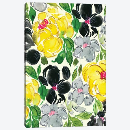 Fancy Florals I Canvas Print #JTG5} by Joy Ting Canvas Print