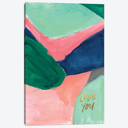 Painterly Color Block V Canvas Print #JTG71} by Joy Ting Canvas Artwork