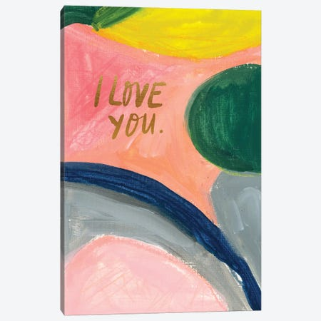 Painterly Color Block XIII Canvas Print #JTG79} by Joy Ting Canvas Art