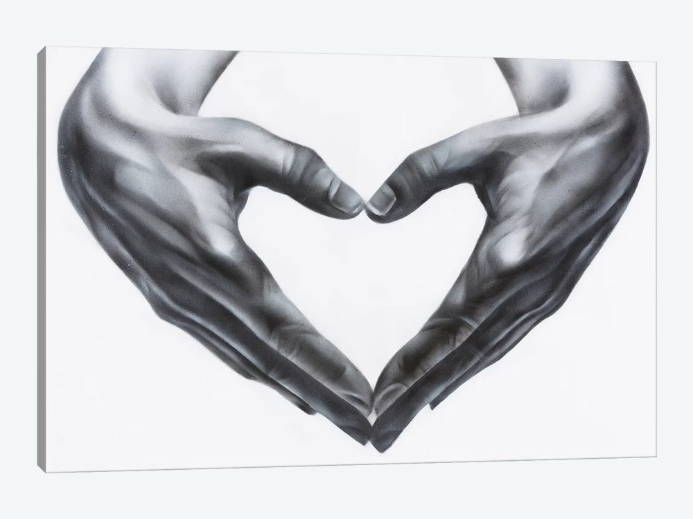 Heart Hands by Jody Thomas 1-piece Canvas Wall Art