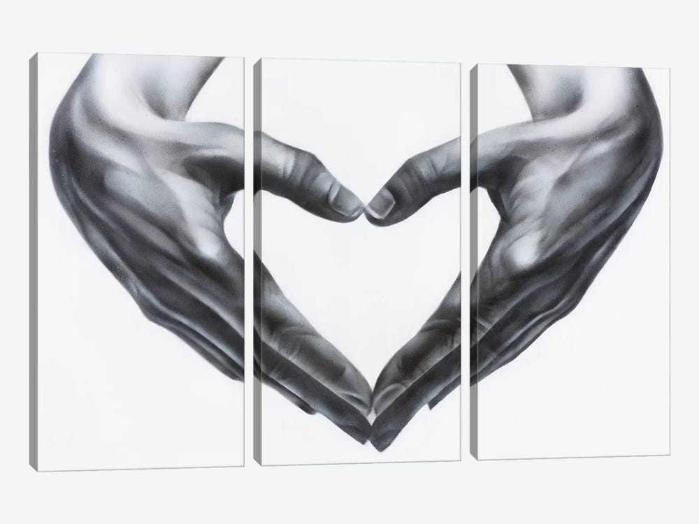 Heart Hands by Jody Thomas 3-piece Canvas Wall Art