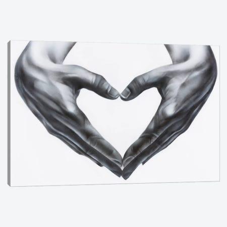 Heart Hands Canvas Print #JTH13} by Jody Thomas Canvas Art Print