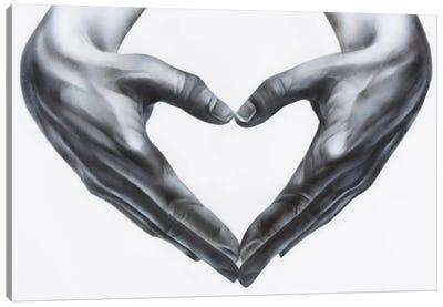 Heart Hands Canvas Art Print