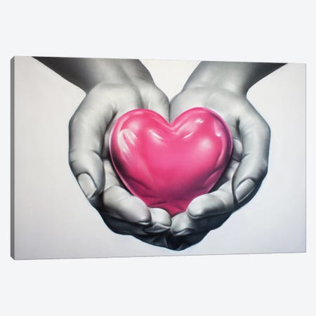 Heart In Hands Canvas Print #JTH14} by Jody Thomas Canvas Wall Art