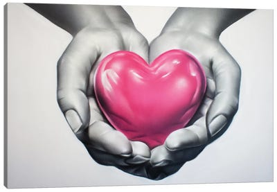 Heart In Hands Canvas Art Print
