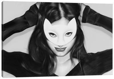 Here Kitty Canvas Art Print