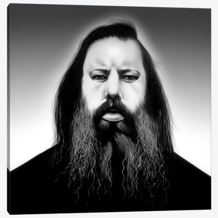 Rick Rubin Canvas Print #JTH29} by Jody Thomas Canvas Artwork