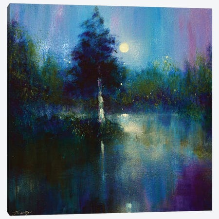 The Secret Lake Canvas Print #JTL102} by Jennifer Taylor Canvas Artwork