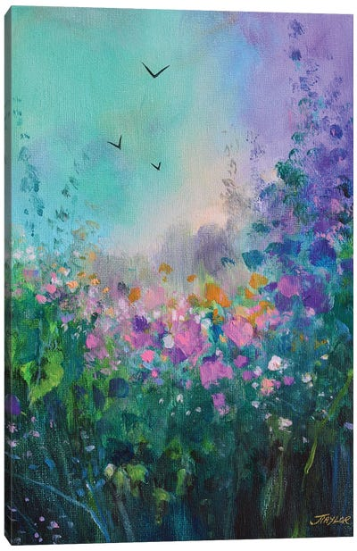 E Canvas Art Print