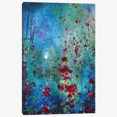 The Moon And The Poppies 3-Piece Canvas #JTL32} by Jennifer Taylor Art Print