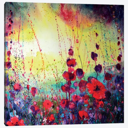 We Spent The Day In The Meadow Canvas Print #JTL41} by Jennifer Taylor Canvas Art