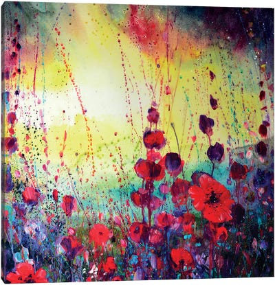 We Spent The Day In The Meadow Canvas Art Print