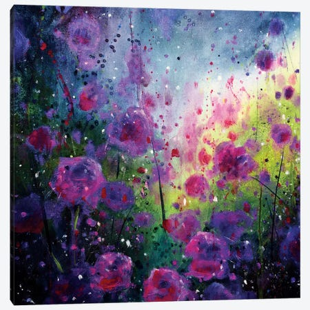 Wild Roses 3-Piece Canvas #JTL42} by Jennifer Taylor Canvas Wall Art