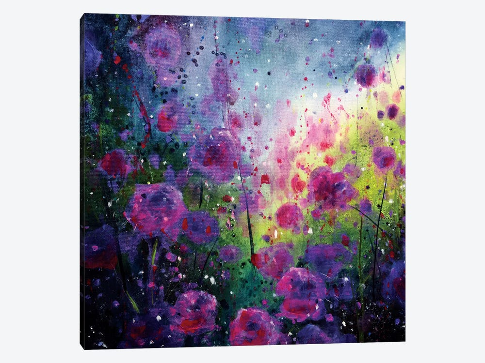 Wild Roses by Jennifer Taylor 1-piece Canvas Print