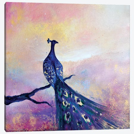 Peacock II 3-Piece Canvas #JTL47} by Jennifer Taylor Art Print