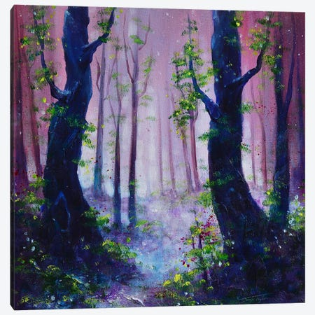 Dusky Woods Canvas Print #JTL74} by Jennifer Taylor Canvas Wall Art