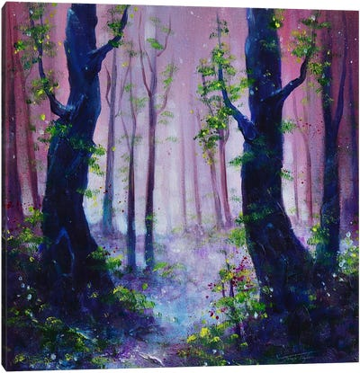 Dusky Woods Canvas Art Print