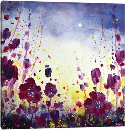 Midnight Blossoms Canvas Art Print