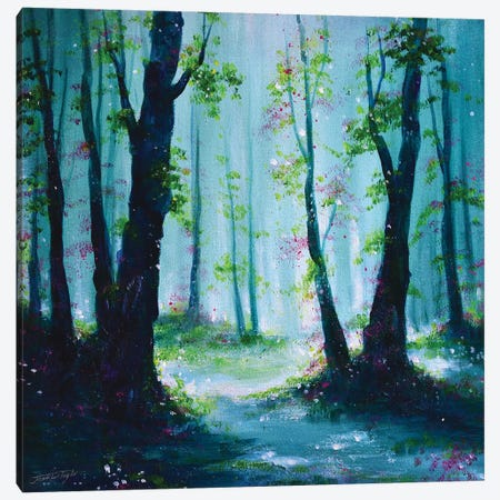 Woodland Morn Canvas Print #JTL80} by Jennifer Taylor Canvas Artwork