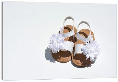 Baby Girl Sandals Canvas Art Print