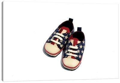Stars & Stripes Baby Sneakers Canvas Art Print