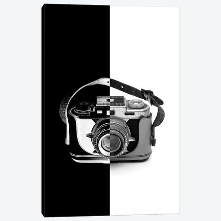 Vintage Camera Two Tone Canvas Print #JTN68} by Jonathan Brooks Canvas Wall Art