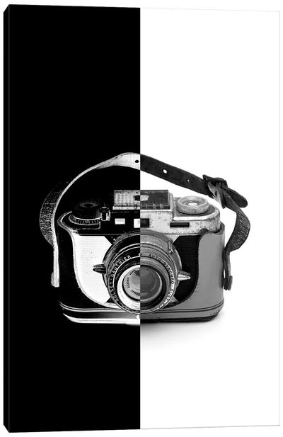 Vintage Camera Two Tone Canvas Art Print