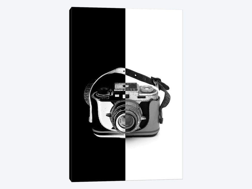 Vintage Camera Two Tone by Jonathan Brooks 1-piece Canvas Artwork