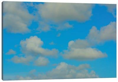 White Clouds Blue Skies Canvas Art Print