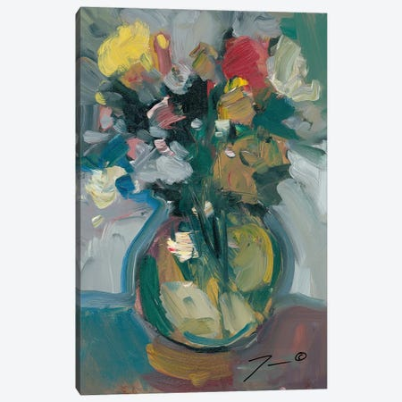 Glass Vase Canvas Print #JTR12} by Jose Trujillo Art Print