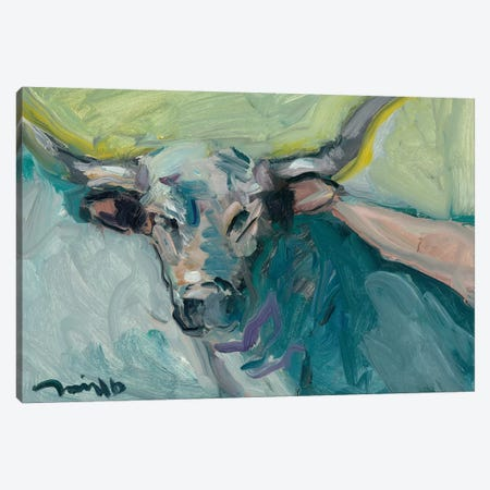 Longhorn 3-Piece Canvas #JTR14} by Jose Trujillo Canvas Artwork