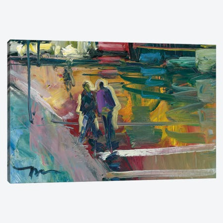 Night Stroll Canvas Print #JTR16} by Jose Trujillo Canvas Wall Art
