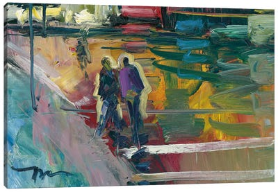 Night Stroll Canvas Art Print