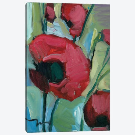 Poppies Canvas Print #JTR17} by Jose Trujillo Canvas Wall Art