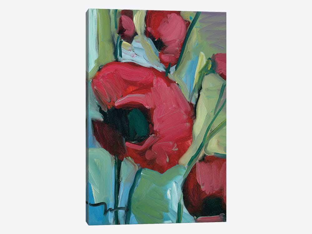 Poppies by Jose Trujillo 1-piece Canvas Print