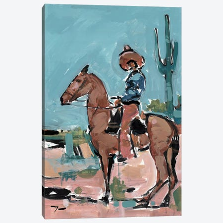 Vaquero Canvas Print #JTR36} by Jose Trujillo Canvas Artwork