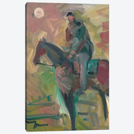 Desert Horseman Canvas Print #JTR9} by Jose Trujillo Canvas Artwork