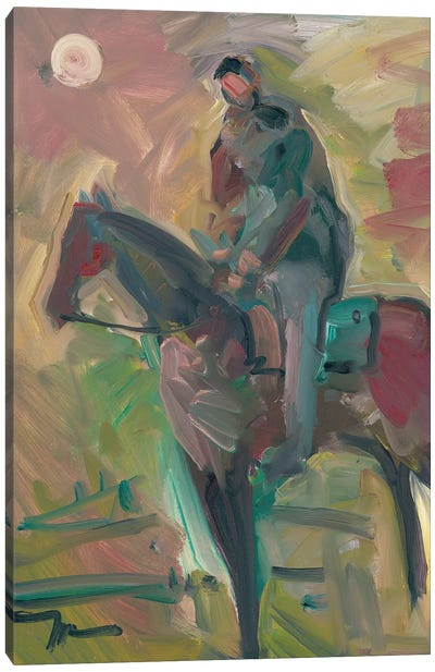 Desert Horseman Canvas Art Print