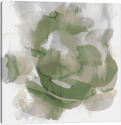 Green Flow II Canvas Art Print