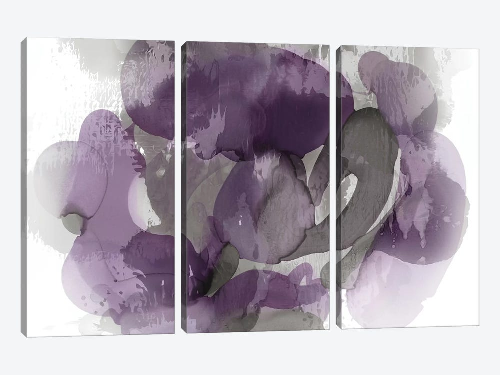 Amethyst Flow I 3-piece Canvas Print
