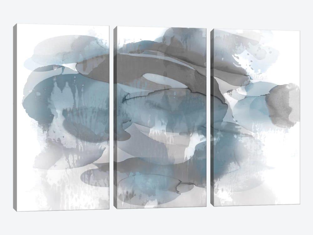 Aqua Flow I by Kristina Jett 3-piece Canvas Print