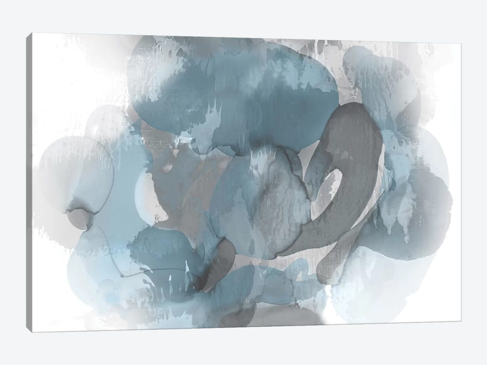 Aqua Flow II by Kristina Jett 1-piece Canvas Art